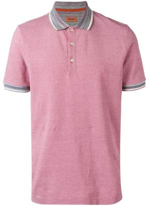 Missoni contrast collar polo shirt