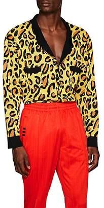 LANDLORD Men's Leopard-Print Cardigan - Yellow