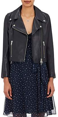 Barneys New York XO Jennifer Meyer Women's Crop Moto Jacket - Midnight