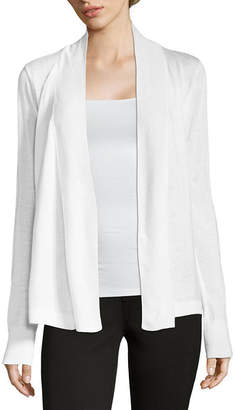 Liz Claiborne Long Sleeve Open Front Cardigan