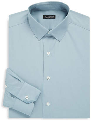 Valentino Point Collar Classic-Fit Dress Shirt