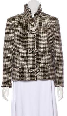 Chanel Wool Houndstooth Jacket