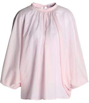 Chalayan Gathered Cotton-Gauze Blouse