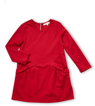 Truly Me Girls 4-6x) Red Bow Pocket Dress