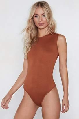 Nasty Gal Cover Your Basics Tee Bodysuit