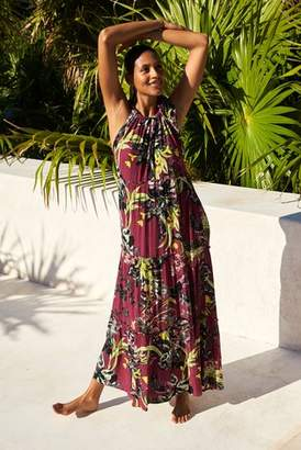 Next Womens Berry Halter Neck Maxi Dress
