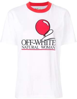 Off-White natural woman print T-shirt