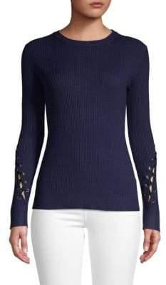 John & Jenn Connor Lace-Up Sweater