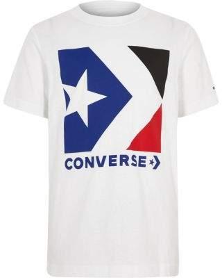 Converse Boys white logo T-shirt