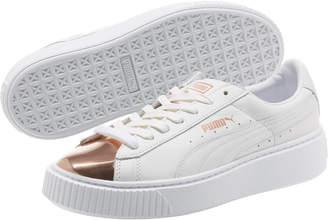Basket Platform Metallic Womens Sneakers