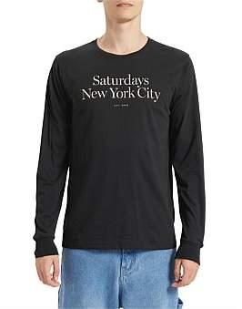 Saturdays NYC Miller Standard L/S Tee