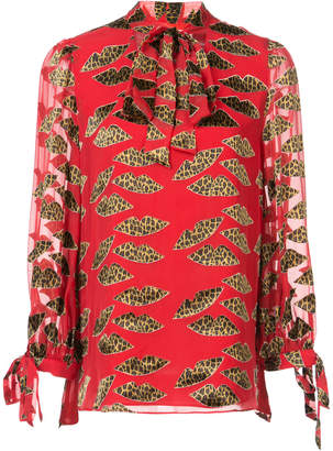 Alice + Olivia Alice+Olivia leopard print blouse