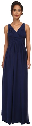 Donna Morgan - Julie Long Bra Friendly Chiffon Dress Women's Dress $240 thestylecure.com
