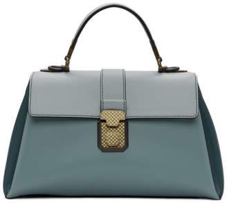 Bottega Veneta Blue Medium Piazza Bag