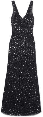 ATTICO Sequined Tulle Maxi Dress - Black