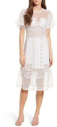 Women's Tularosa Neil Lace Trim Dress $258 thestylecure.com
