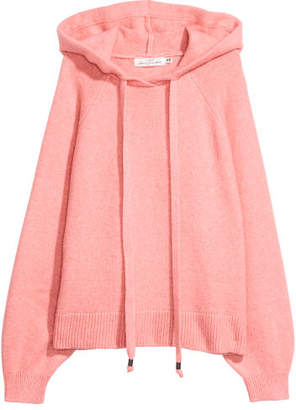 H&M Knit Hooded Sweater - Pink