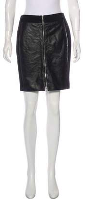 Ramy Brook Leather-Trimmed Mini Skirt w/ Tags