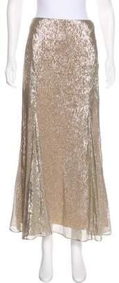 Oscar de la Renta Silk Godet Skirt