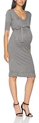Mama Licious Mamalicious Women's Mlzolanda 2/4 Knit Dress (Medium Grey Melange), (Size