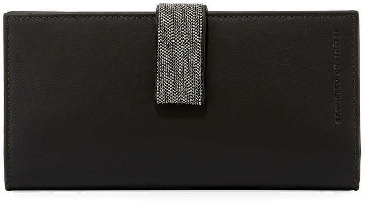 Brunello Cucinelli Leather Wallet with Monili Strap