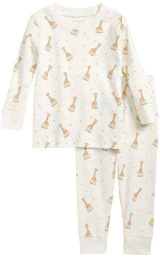 Sophie la Girafe Fitted Two-Piece Pajamas