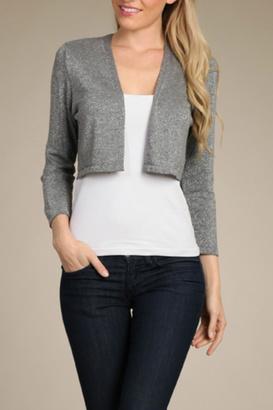 Mrena Grey Cropped Cardigan $26 thestylecure.com