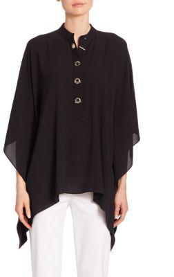 Michael Kors Collection Key Lock Silk Tunic