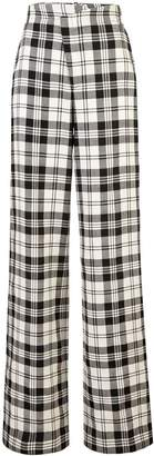 Monse Plaid Flared Trousers