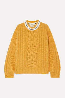 The Great The Cable Knitted Sweater - Yellow