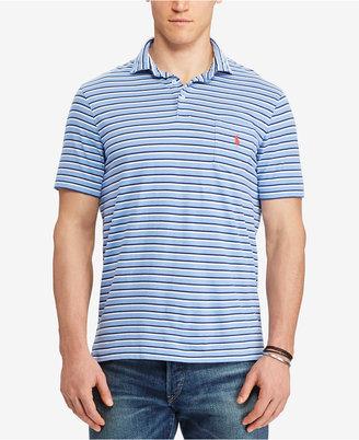 Polo Ralph Lauren Men's Big & Tall Classic-Fit Striped Cotton Polo $79.50 thestylecure.com