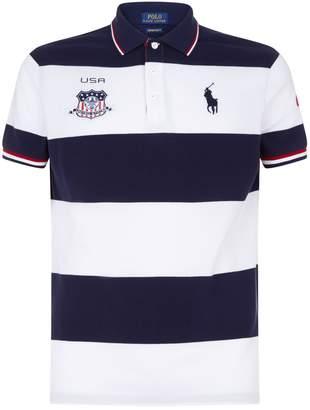 Polo Ralph Lauren Striped USA Polo Shirt