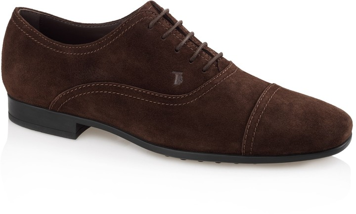 Tod's Lace-Up Suede Shoes