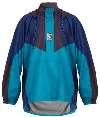 Balenciaga Double Hem Ripstop Windbreaker Jacket - Mens - Multi