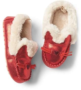 Gap Cozy kitten moccasin slippers