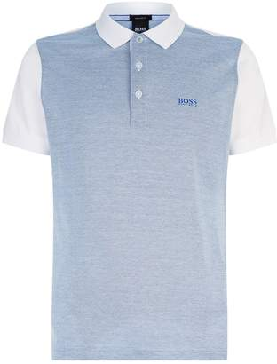 BOSS GREEN Paddy Melange Polo Top