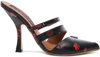 Y/Project Y Project Floral Leather Open Toed Mules