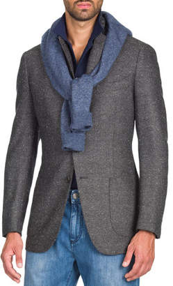 Isaia Men's Grayblack Geometric Jacket