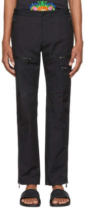 Versace Black Zip Cargo Pants