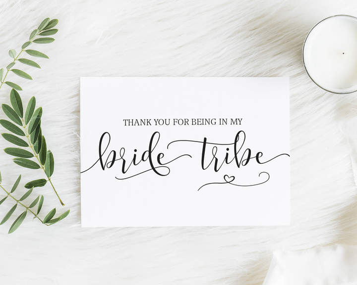 Etsy Thank you Bride Tribe Card - Gift for Her - Bridesmaid Notecard - Thank you Greeting Card - Bridesma