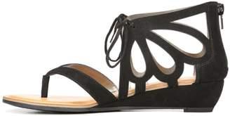 Carlos by Carlos Santana Katarina Womens Beige Faux Suede Wedge Sandal Size 8.5