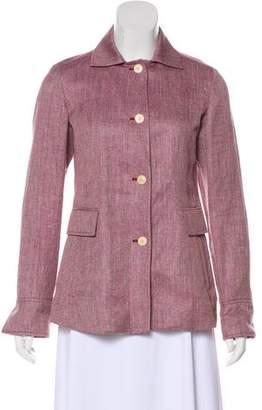 Loro Piana Linen & Silk-Blend Button-Up Jacket