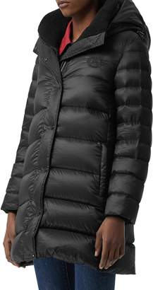 Burberry Kington Archive Logo Down Hooded Coat