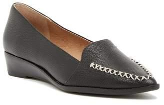 Bettye Muller Chet Pointed Toe Loafer Wedge