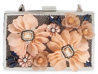Sondra Roberts 3D Flower Box Clutch - Pink $118 thestylecure.com