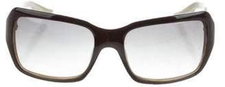 Oscar de la Renta Square Gradient Sunglasses