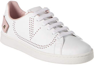 Valentino Vlogo Backnet Leather Sneaker