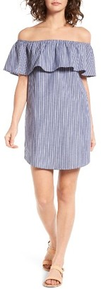Women's Socialite Amanda Ruffle Off The Shoulder Dress $45 thestylecure.com