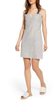 1 STATE 1.STATE Carousel Stripe Tie Back Linen & Cotton Sundress