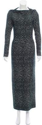 Alaia Giraffe-Patterned Maxi Dress
